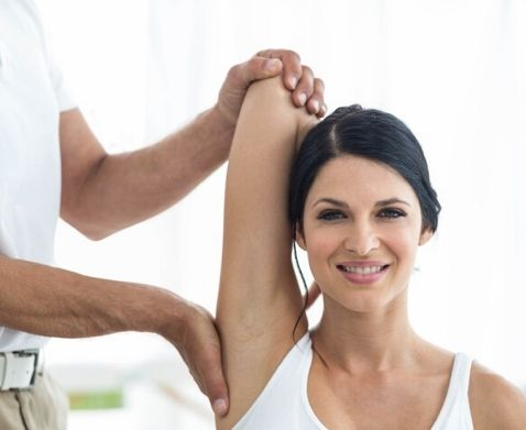 assisted stretching massage by Expert