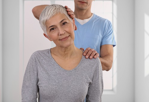 back adjustment with chiropractic